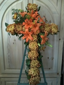 Funeral Flower Standing Heart Arrangement