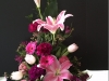 funeral-flowers-pink-lilies-in-artistic-arrgmt-with-mixed-lavender-puple-flowers